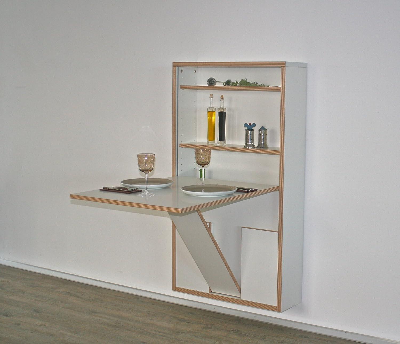 Wandklapptisch design  Wandklapptisch, Schreibtisch, Sekretär, Esstisch, Küchentisch ...