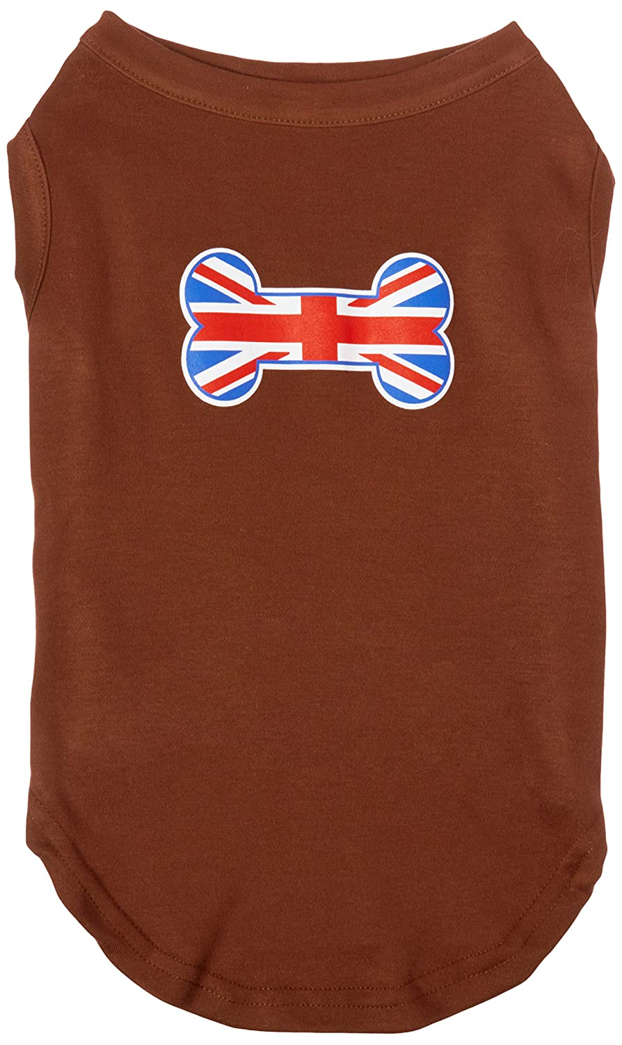Mirage Pet Products 16-Inch Bone Shaped United Kingdom Union Jack Flag Screen Print Shirts for Pets, X-Large, Brown