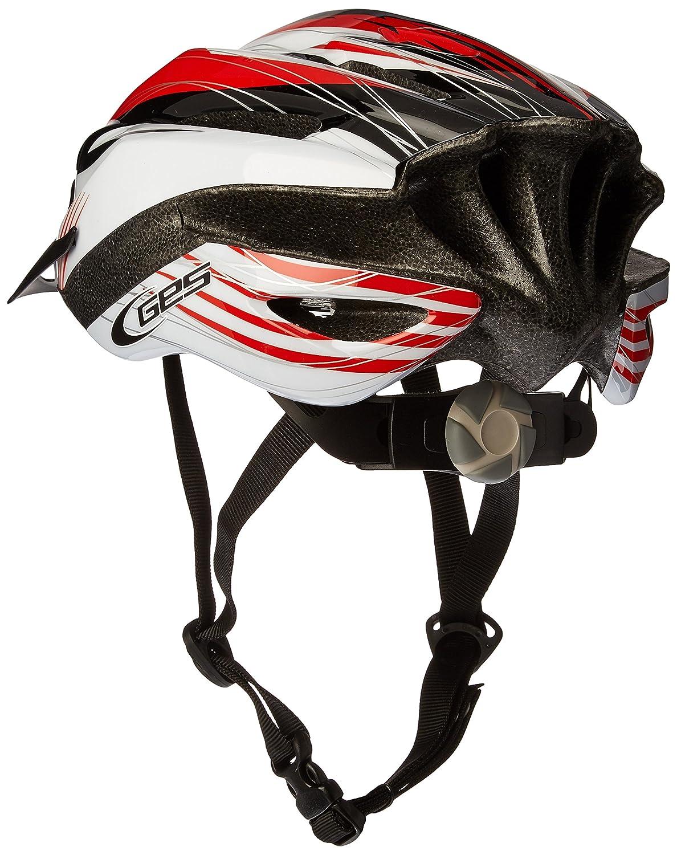Manufacturas Ges H401Q30 - Casco de Ciclismo Rocket, Color Rojo, Negro y Blanco, Talla M (54-58): Amazon.es: Deportes y aire libre