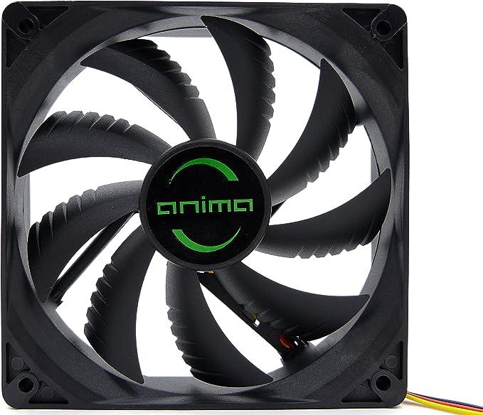 Tacens Anima AF12, ventilador para PC, 12cm 12v, 14dB, 9 aspas, 1200 RPM, negro