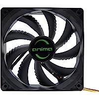 Tacens Anima AF12 - Ventilador para ordenador (12cm 12v, 14dB, 9 aspas, 1200 RPM, tecnología FLUXUS, ecológico, anti-vibraciones, hasta 50.000h) color negro