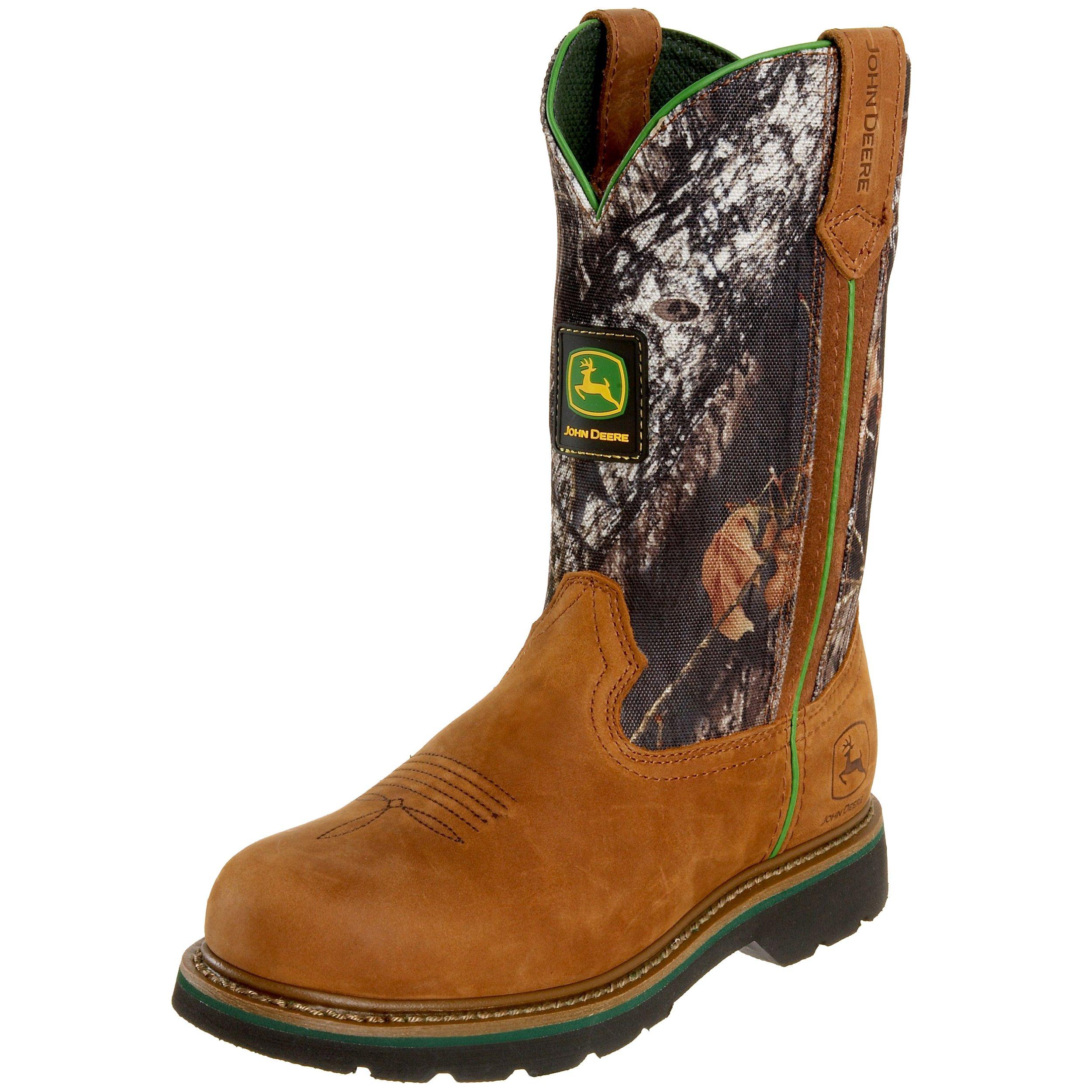 John Deere Women's Wellington JD3288 Boot,Tan/Camo,7 M US