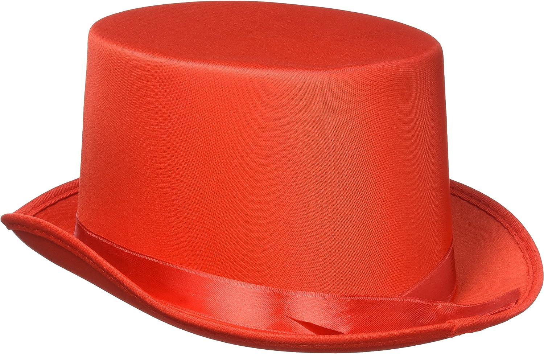 Red Satin Sleek Top Hat Winter Christmas Decoration