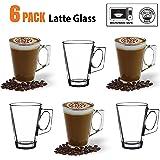 Ansio ® café Latte en verre 245 ml (8 oz)-Boîte de 6