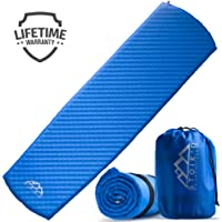 STOÏK'D Camping Sleeping Pad - Premium Self-Inflating Sleeping Pad + FREE Emergency Blanket - Lightweight Camping Mattress for Backpacking - Durable, Water Resistant & Fully Insulated for All Seasons