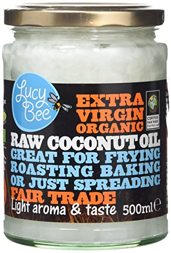 Lucy Bee Sri Lankan Extra Virgin Fair Trade Organic Raw Coconut Oil 500ml