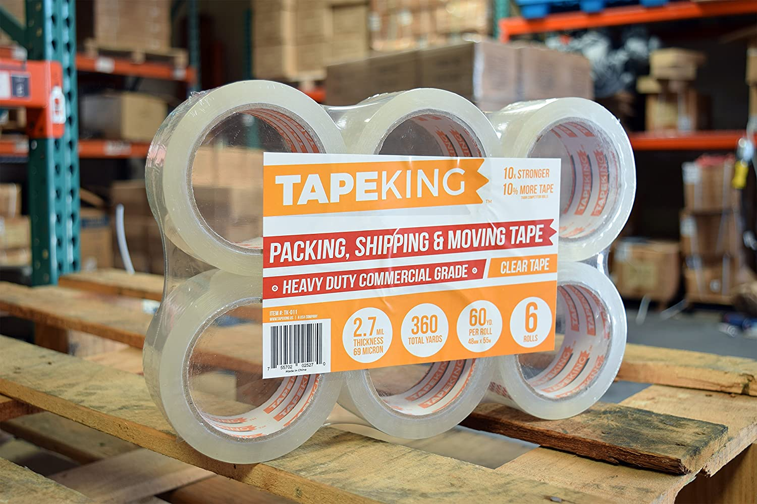 60 Yards Per Roll 6 Refill Rolls 2 Inch Wide /& Tape King Clear Packing Tape