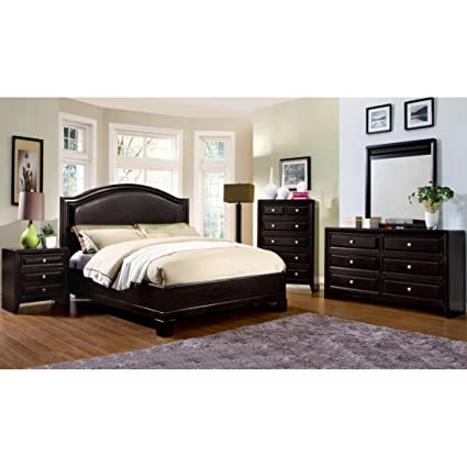 Furniture of America 4-piece Transitional Style Bedroom Set King
