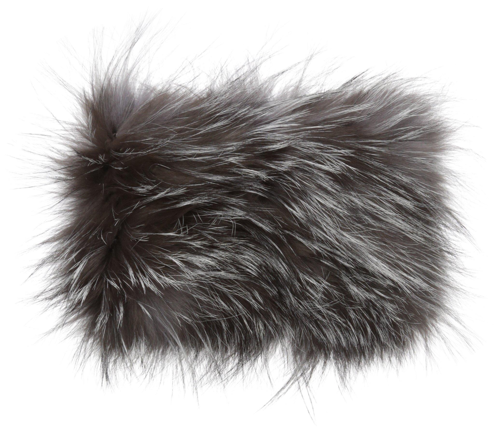 La Fiorentina Women's Fur Headband, Grey, One Size