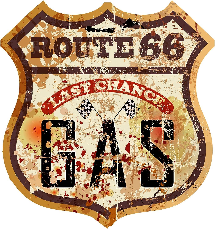 Finest Folia Retro Vintage Aufkleber Sticker Old School Ace Kult Rockabilly 11 Route 66 Auto