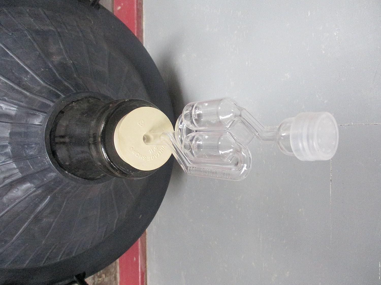14 gallon w//handles Demijon 54 liter in a basket