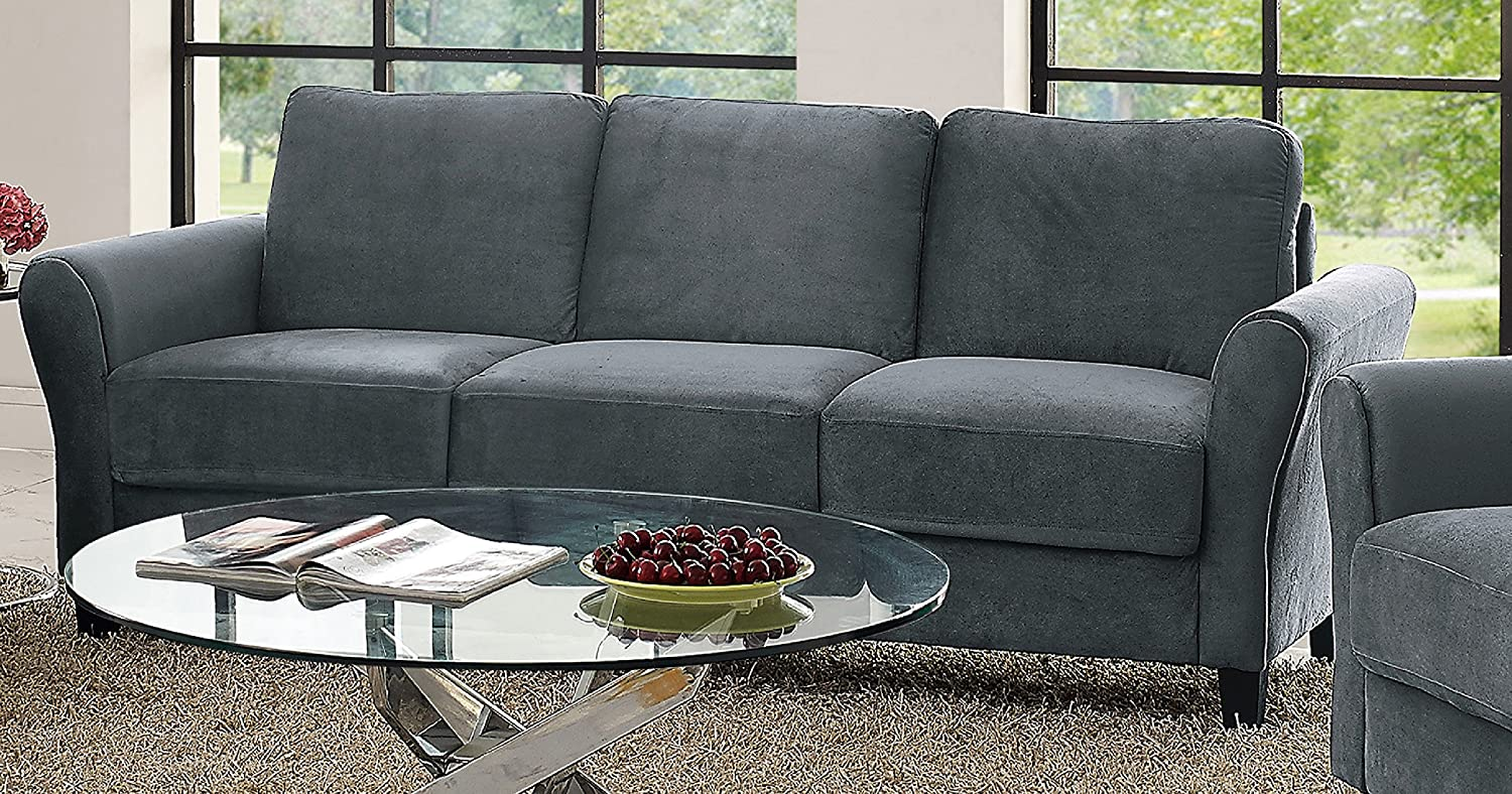 Lifestyle Solutions CCWENKS3M26DGRA Watford Sofa in Grey Dark