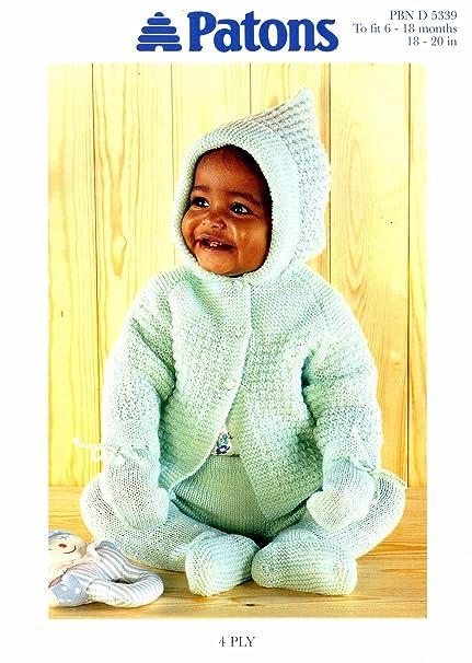 13e932e89229 Knitting Pattern Baby s 4Ply Hooded Jacket Leggings Pram Set To Knit ...