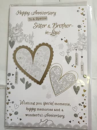 Happy Anniversary Sister Brother In Law Card Wedding Anniversary