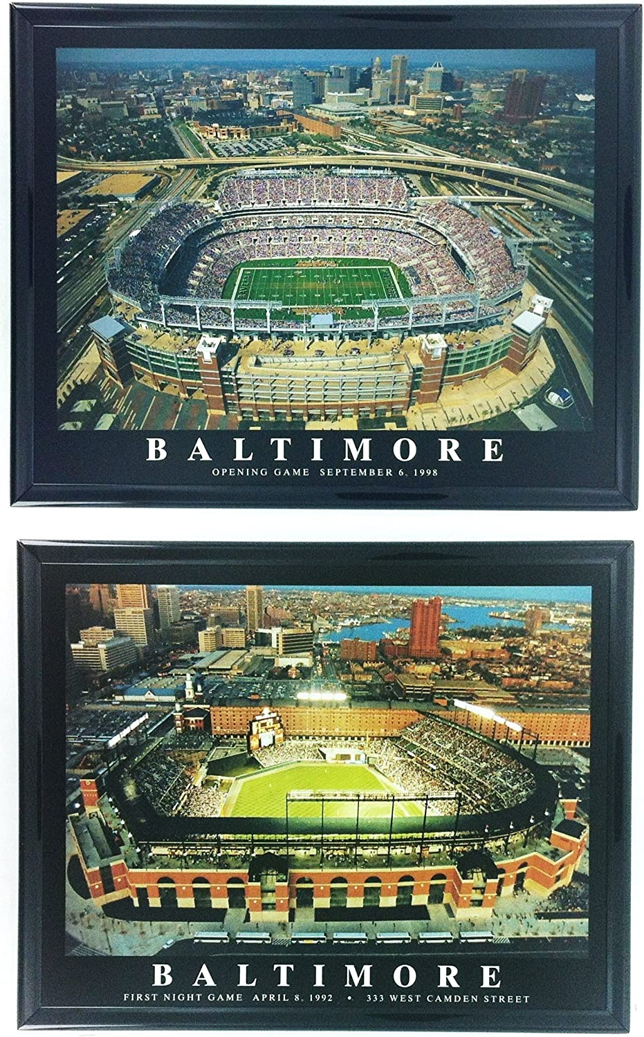 Framed Baltimore Orioles and Ravens - M&T Bank Stadium and Camden Yards (SET OF 2)