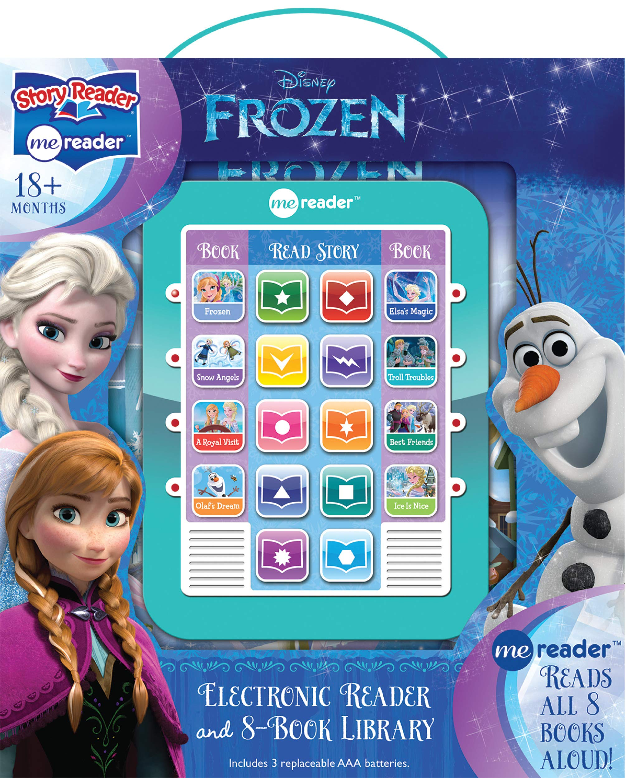 Disney Frozen Elsa, Anna, Olaf, and More! – Me Reader Electronic Reader and 8-Sound Book Library – PI Kids