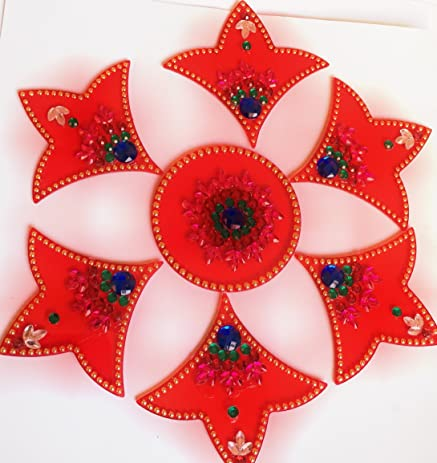 Amazon rangoli indian home decor diwali gift for home rangoli indian home decor diwali gift for home interior handcrafted floor stickers ppazfo