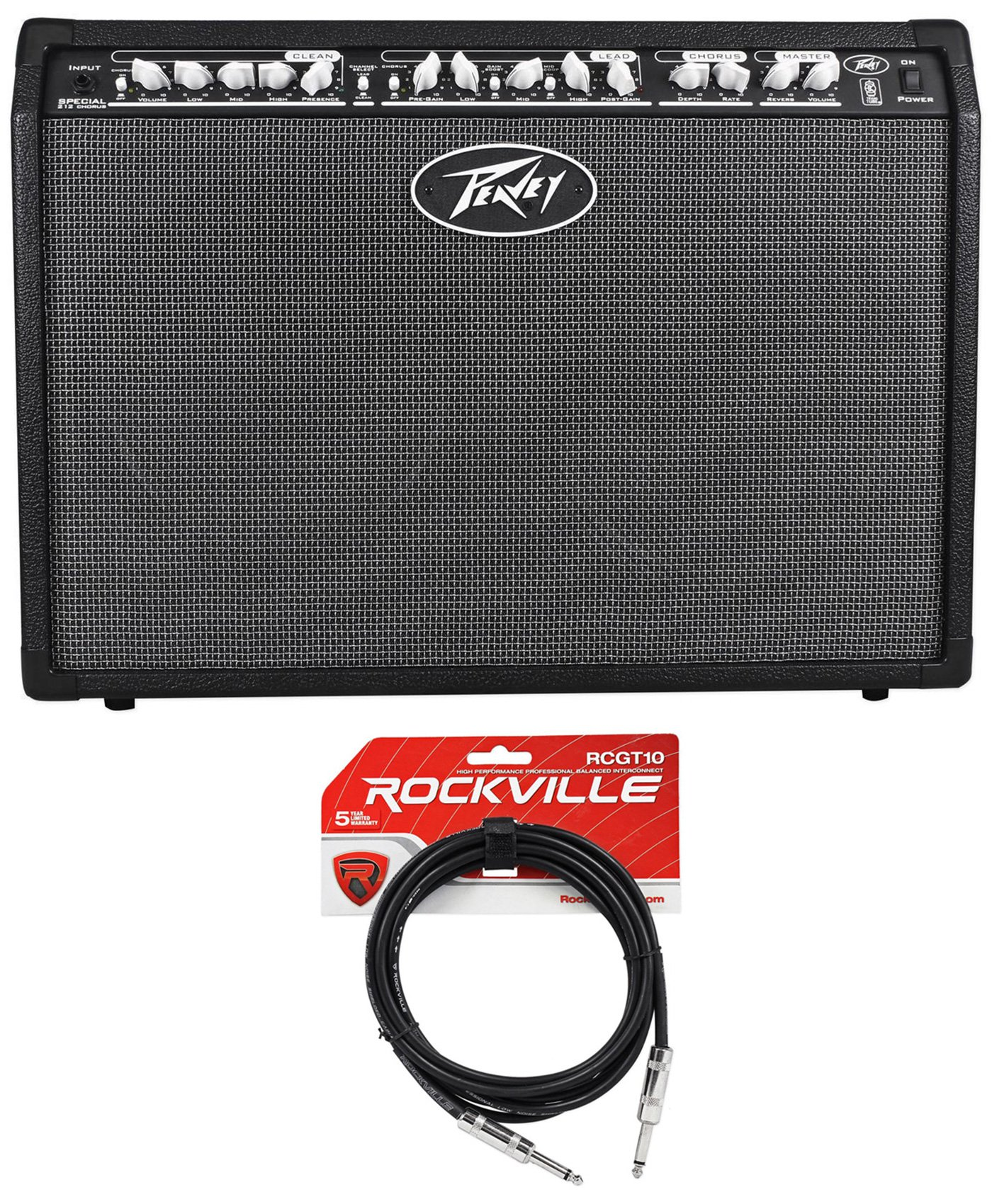 Peavey Special Chorus 212 2-Ch. 100 Watt 2x12 Guitar Amplifier Combo Amp+Cable