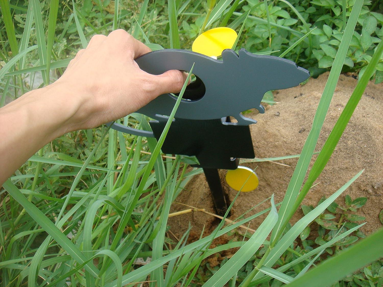 TARGET HOUSE Knockdown Objetivo de reinicio autom/ático para Pistola de Aire de 0,177 y 0,22 de 3 mm de Grosor