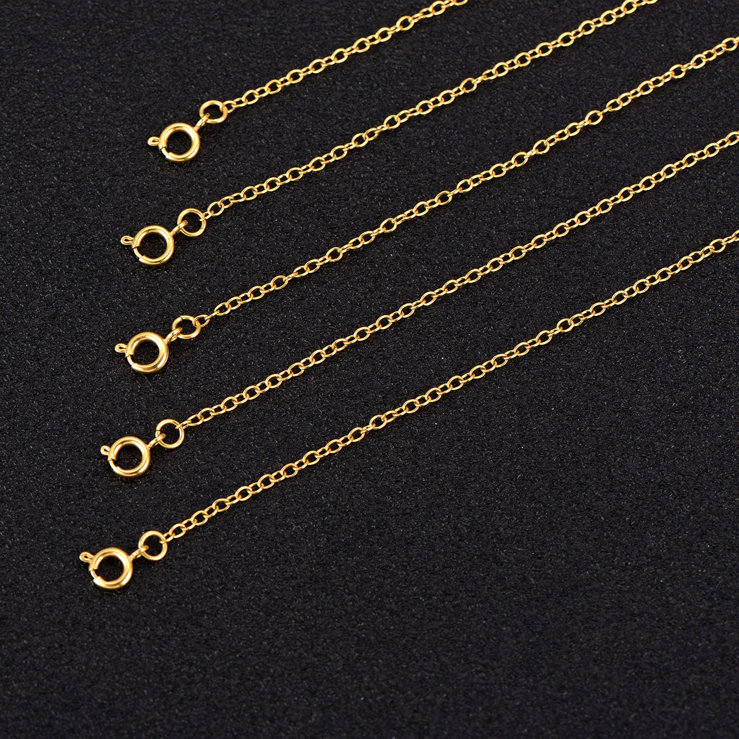 Gold Mudder 5 Pieces Necklace Extenders Bracelet Extender Chain Set for Necklace Bracelet DIY Jewelry Making