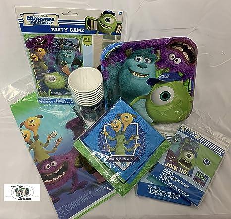 Paquete de fiesta de Monsters University con platos, servilletas ...