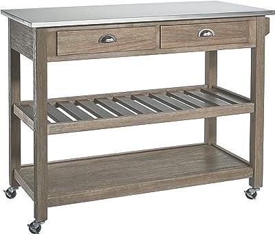 Amazon Com Boraam 98520 Sonoma Wire Brush Kitchen Cart
