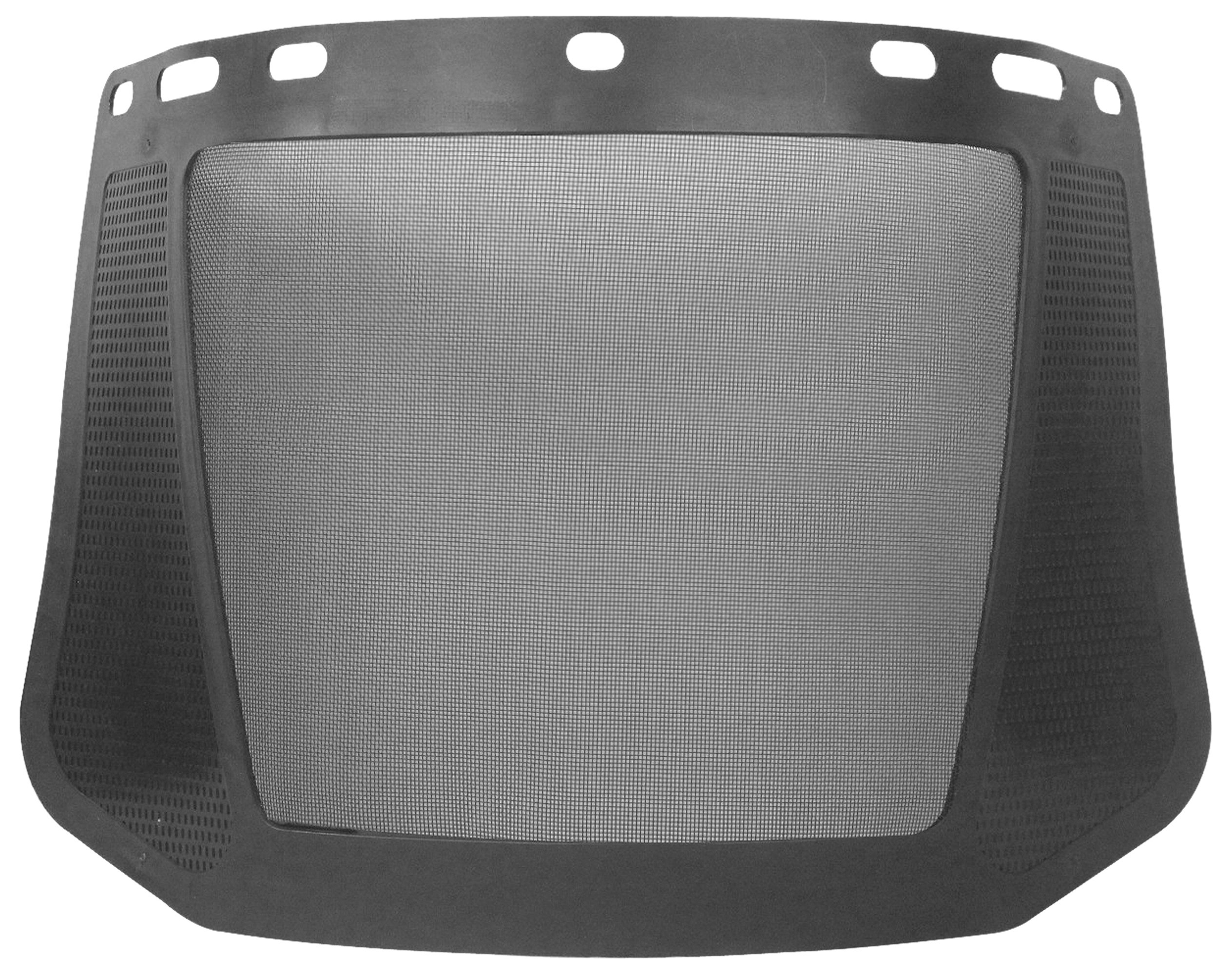 ERB Safety 15196 8191 Steel Mesh Screen Face Shields, One Size, Black