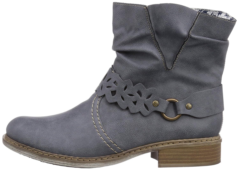 Rieker Damen Z4160 Kurzschaft Stiefel, Blau (Jeans 14), 43 uoIR3
