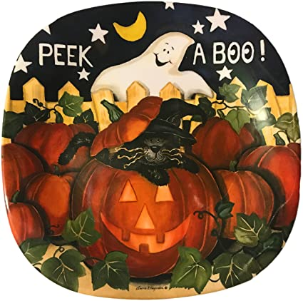halloween 8 peek a boo ghost serving plate
