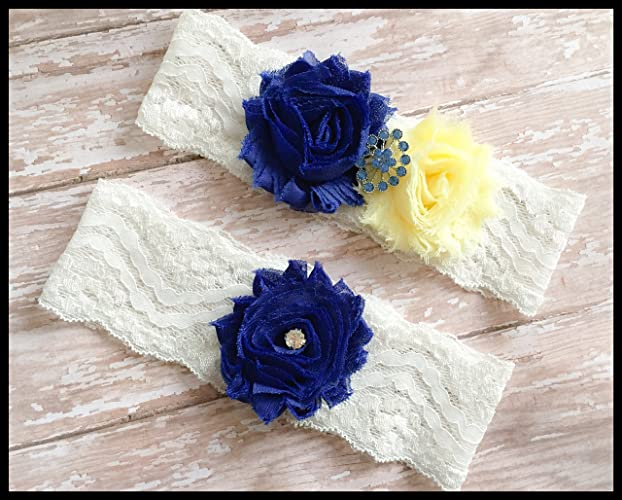 ffe37661557c1 Amazon.com: SEXY Royal Blue Yellow Shabby Flower Vintage Bling ...
