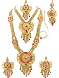 SATHIYA JEWELLERS Gold-Plated Bridal Set for Women