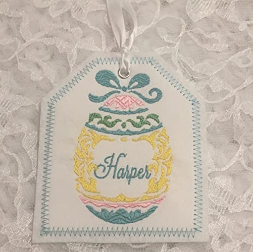 Amazon easter basket personalized embroidered gift tag easter basket personalized embroidered gift tag easter basket gift tag embroidered gift tag negle Images