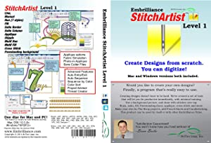 Embrilliance Stitch Artist Level 1, Digitizing Embroidery Software for Mac & PC