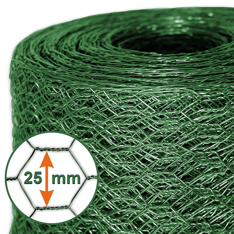 Mammut® Drahtzaun / Sechskant-Geflecht   Maschenweite 25 mm ...