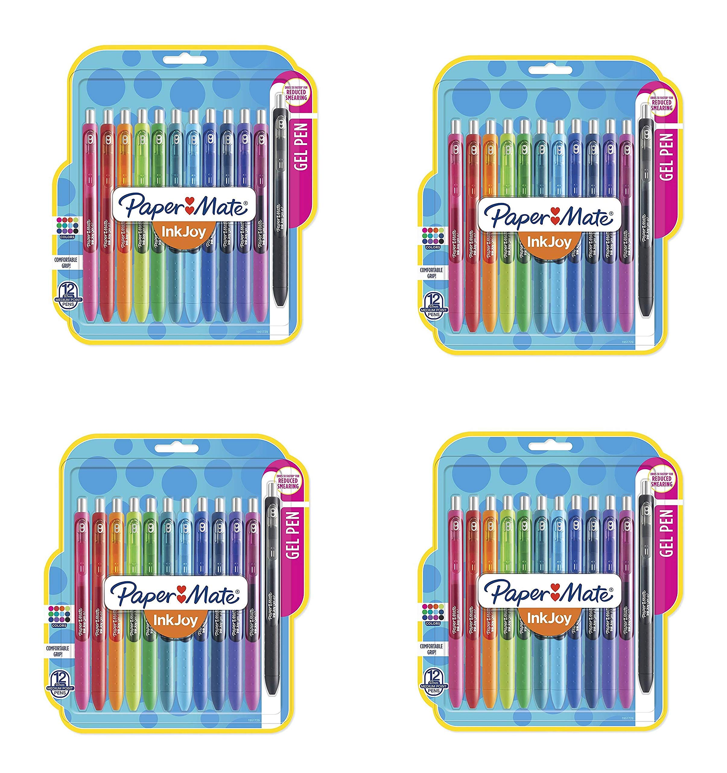 InkJoy Gel Pens, Medium Point, Assorted Colors, 12 Count