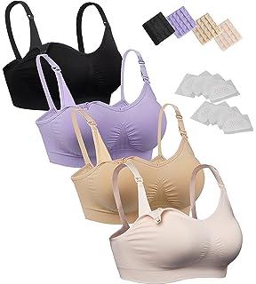 670acfe5bea7d iLoveSIA Womens Seamless Sleep Nursing Bra for Breastfeeding Clip Down Maternity  Bras Pack of 4