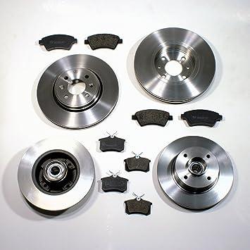 Bremsscheiben massiv Bremsen Bremsbel/äge f/ür vorne die Vorderachse