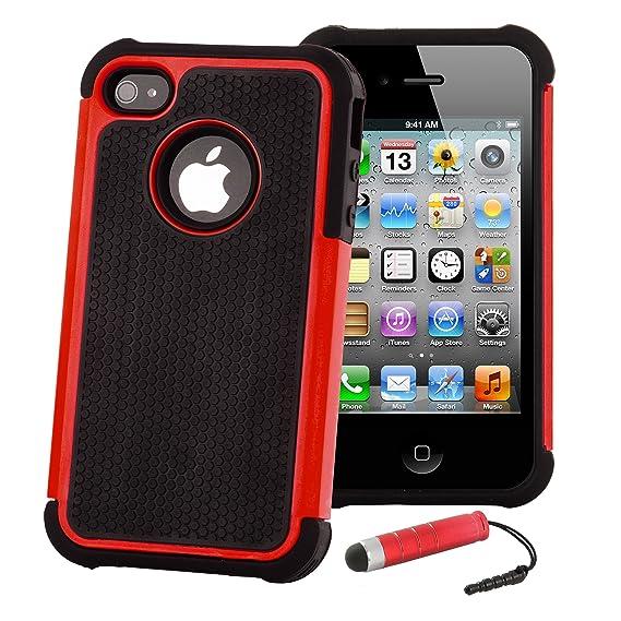 32nd ShockProof Series - Schutz Stoßdämpfung hülle vor Stürzen und Stößen für Apple iPhone 4 & 4S, Case Cover mit Stoßdämpfen