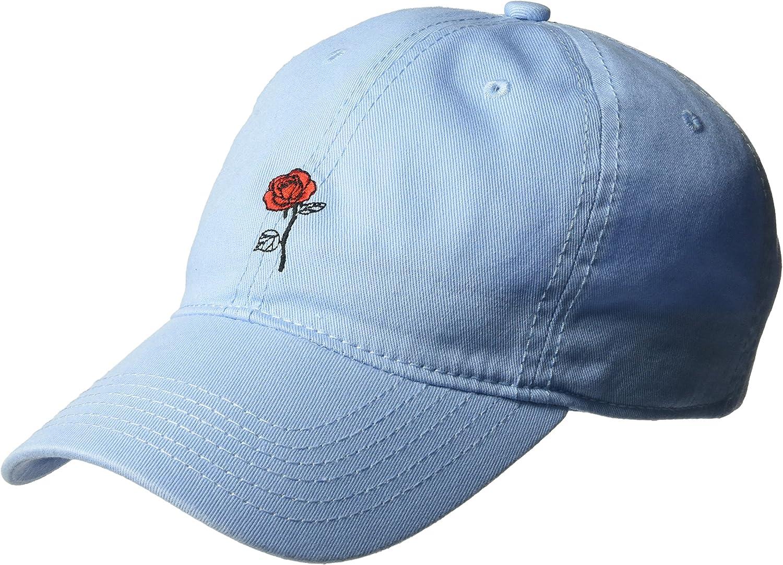 Disney Women's Belle Rose Beauty and The Beast Baseball Cap, 100% Cotton, Light Blue, One Size