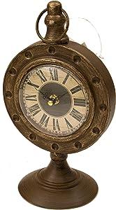 ArtFuzz Brozne Pedestal Table Clock 6.25X4.75X10.5