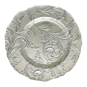 silver charger plates cheap for sale beaded wholesale by jay plate