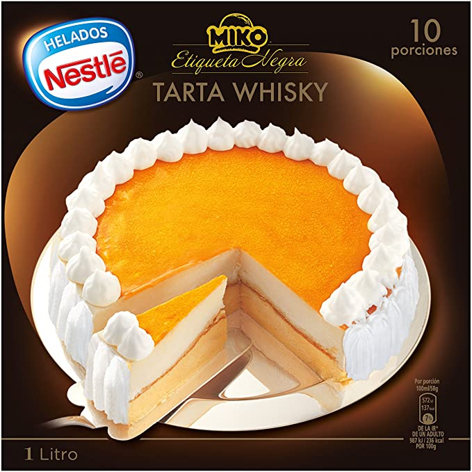 Helados Nestlé Tarta Helada Whisky Etiqueta Negra , 1 litro