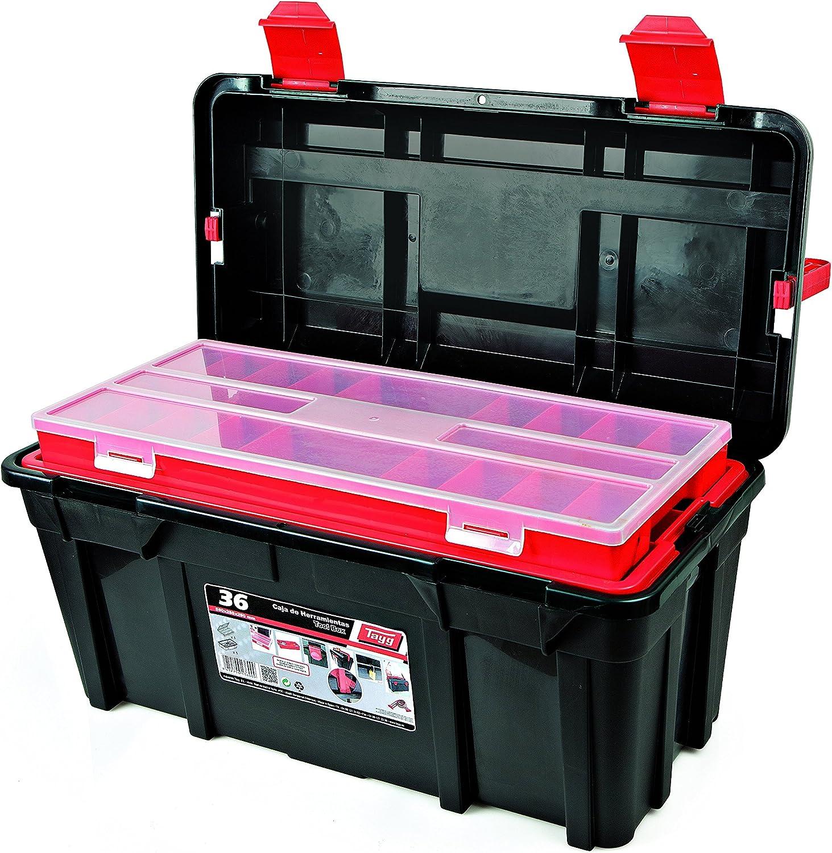 Tayg Caja herramientas plástico n. 34, negro, 580 x 285 x 290 mm: Amazon.es: Bricolaje y herramientas