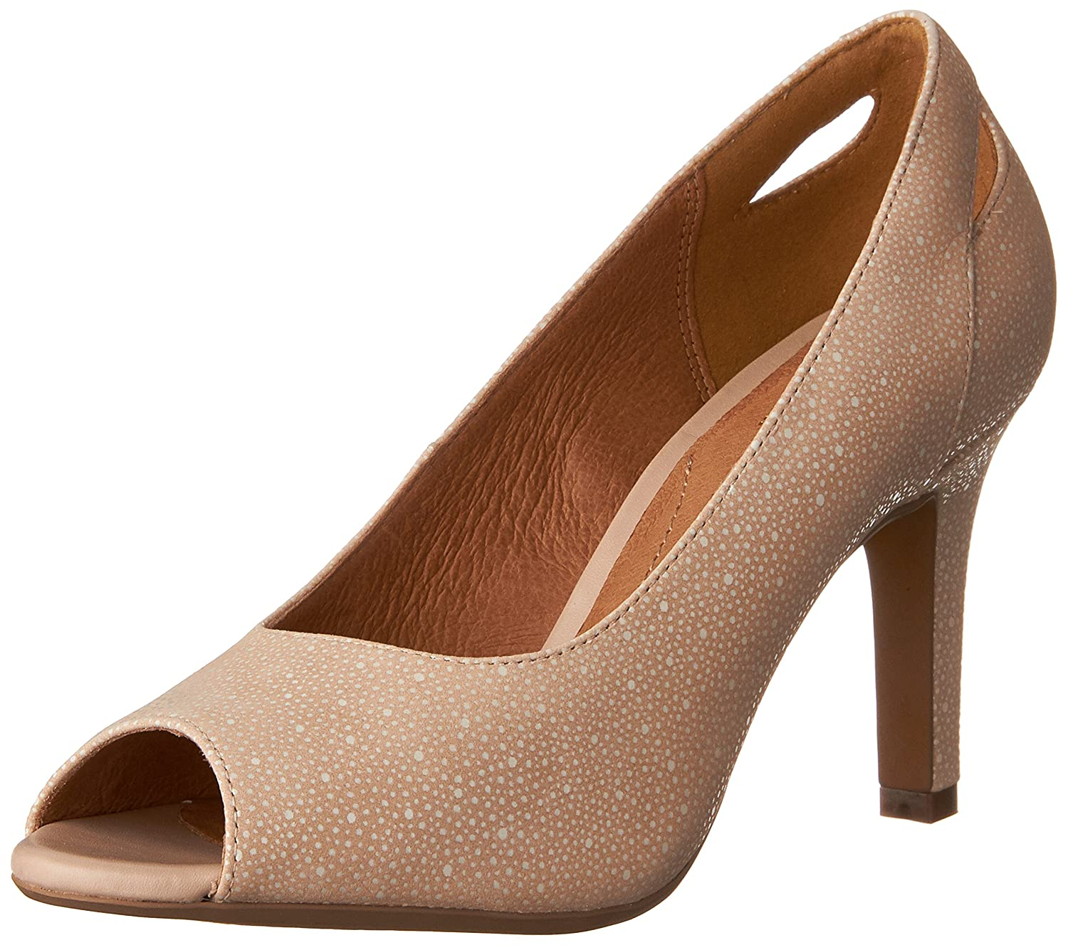 Clarks Women's Heavenly Maze Pump B01IAC1YYK 8 B(M) US|Dusty Pink Interest Nubuck