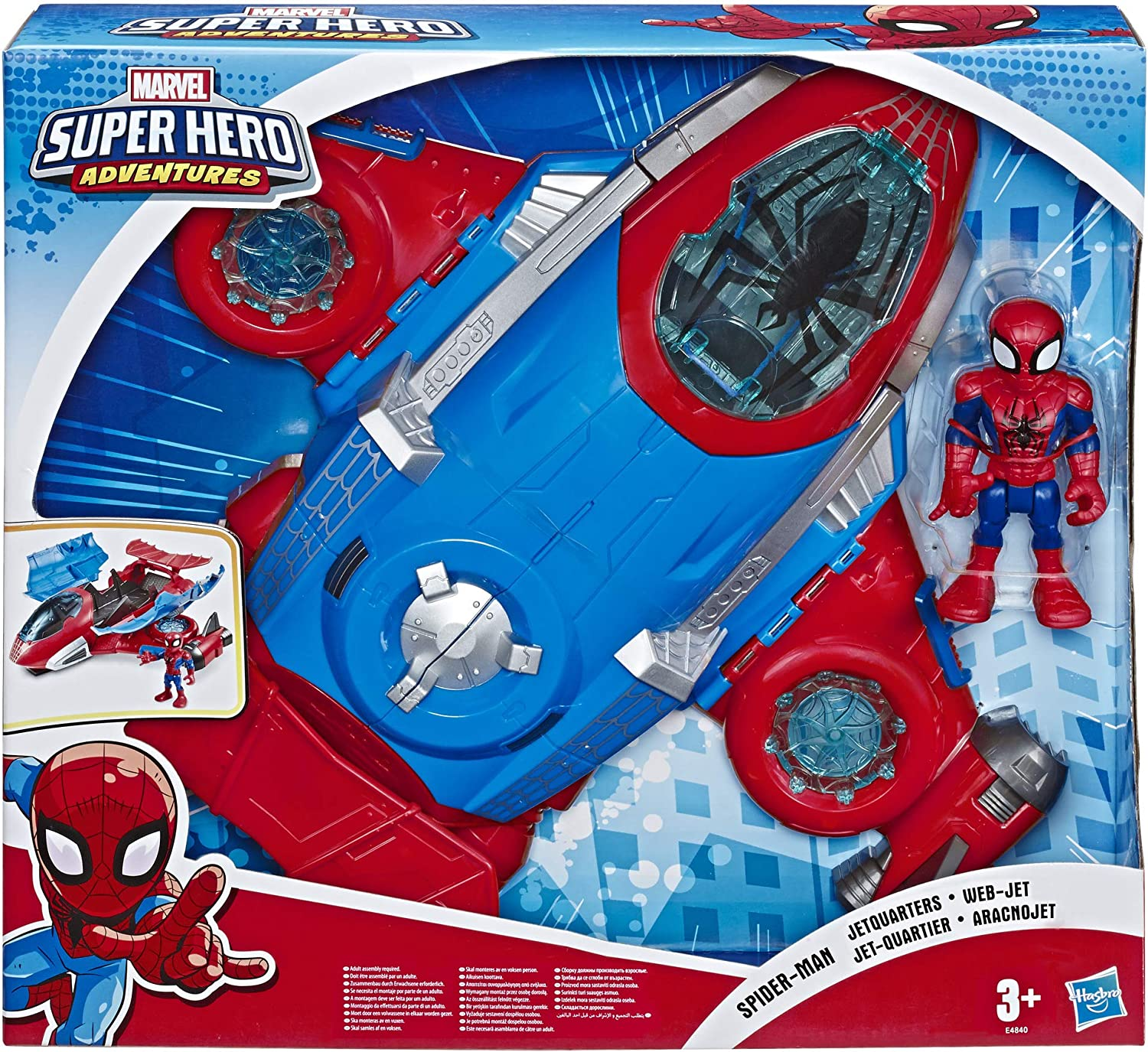 Super Heroes Spider-Man Figures Electric Train Track Set Kids Boy Girl Toy Gift