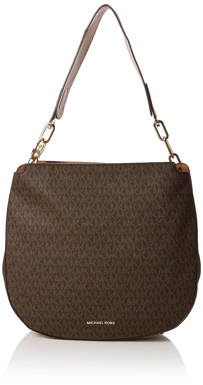 9e5df8ccbe63 Amazon.com  Michael Kors Womens Fulton Shoulder Bag Brown (Brown)  Shoes