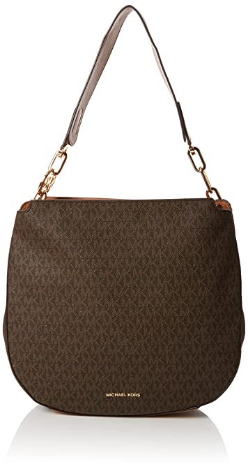 c787a2cd0bb5 Amazon.com  Michael Kors Womens Fulton Shoulder Bag Brown (Brown)  Shoes