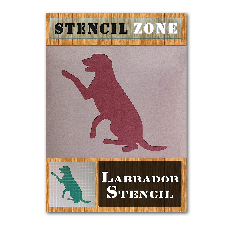 A1 Size Stencil - XLarge Labrador Dog Sitting Mylar Painting Wall Art Stencil Home Decor DIY Art Crafts