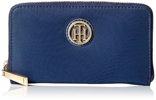 Tommy Hilfiger firma nailon Med Zip Wallet, Azul marino ...