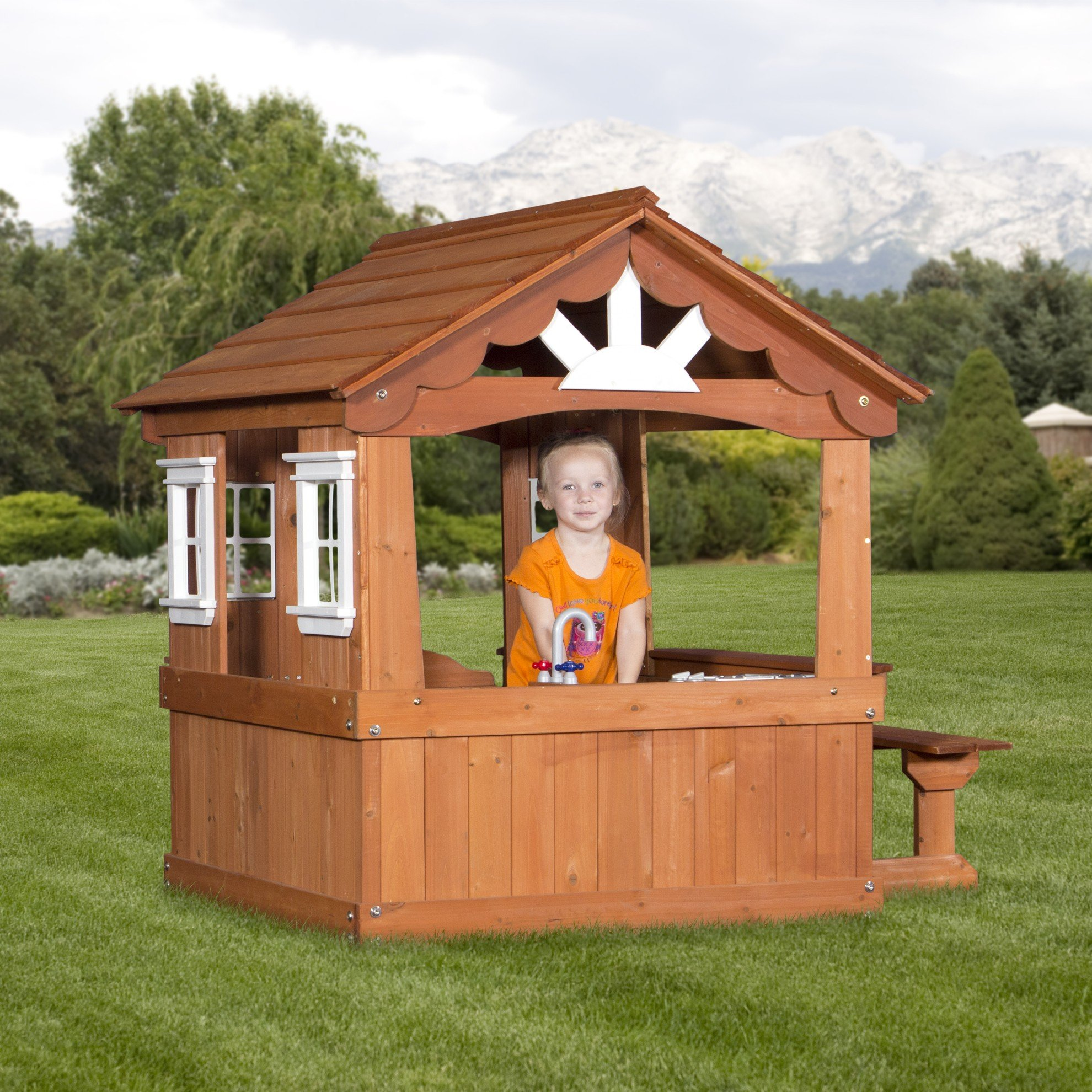 Backyard Discovery Scenic All Cedar Outdoor Wooden Playhouse by Backyard Discovery (Image #3)